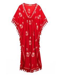 Red Cotton Tassel dress-need