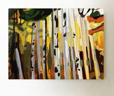 Your place to buy and sell all things handmade Large Wall Art, Canvas Wall Art, Yellow Wall Art, Printable Art, Abstract Art, Birch Forest, Handmade Gifts, Painting, Etsy