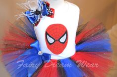 Addison want a Spiderman themed party! I think this will be her outfit for the day!