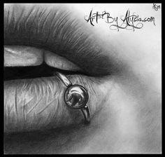 Draw - lips Photo