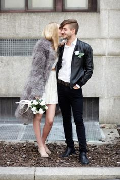 """Architect Jordan Tait and model Maritza Veer in their wedding day finery. Said Maritza, """"We were both invited to a rooftop dinner and it turned out to be the wrong day, so we ended up meeting."""""""