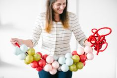 Holiday DIY // color block ornament garland #holiDIY