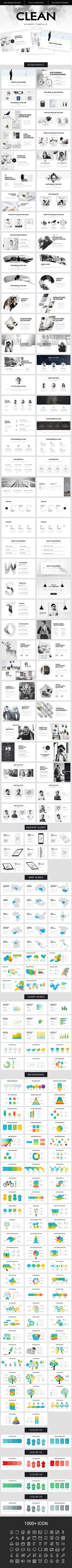 Clean Keynote Template - Creative Keynote Templates More
