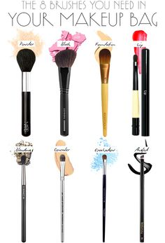 The eight brushes you need in your makeup bag.