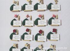Lembrancinhas de casamento e nascimento: ímã de mini ikebana (arranjo de flores japonês) - Sakura Origami Ateliê