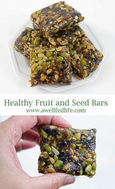 All Natural Healthy Fruit and Seed Bars - Perfect for breakfast or a preworkout snack.