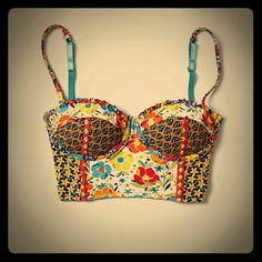 Floral patch bustier Vintage inspired floral bustier.  34B New with tags Anthropologie Intimates & Sleepwear