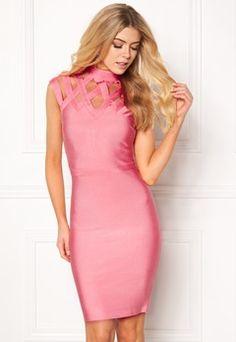 WOW COUTURE Caged Cap Sleeve Shaping Salmon Bubbleroom.no
