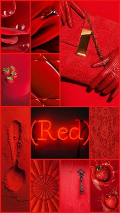 « There is a shade of red for every woman » Audrey Hepburn - by Cath #moodboard #color #red