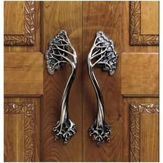 Arts and Crafts styled hardware pulls add an inspired touch to any architectural or craftsman styled home.
