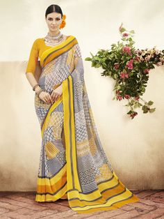 Orange Colur Georgette & Printed Contemporary Sarees   https://www.designersareesuite.com/catalog/product/view/id/25900/s/orange-colur-georgette-printed-contemporary-sarees/category/3/#.Vjd5BdIrLIU