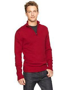Half-zip solid sweater