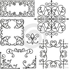 Wrought iron ornaments