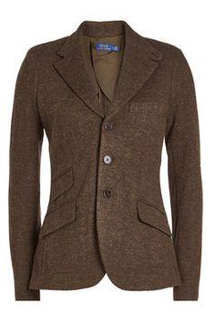 Brun tweed-blazer fra Polo Ralph Lauren i str (Finnes på René i sentrum) Tweed Jacket, Tweed Blazer, Polo Ralph Lauren, Wool, Cotton, Jackets, Shopping, Fashion, Brown