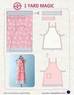 1 Yard Magic Apron from Lecien Fabrics! {free pattern}