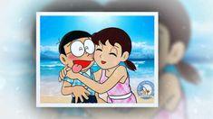 Shizuka nobita love hug