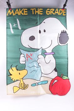 Fall Classroom Decor Vintage Peanuts Snoopy Back to School Make the Grade A Woodstock  The Pink Room  170206 by ThePinkRoom