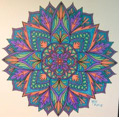 ColorIt Mandalas to Color Volume 1 Colorist: Mary Beth Brown #adultcoloring #coloringforadults #mandalas #mandala #coloringpages