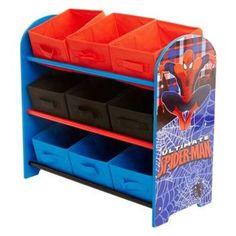 spiderman storage unit http://wallartkids.com/spiderman-themed-bedroom-ideas
