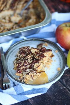 Συνταγή για εύκολο apple crumble – Cool Artisan Sweet Recipes, Acai Bowl, Oatmeal, Breakfast, Food, Acai Berry Bowl, The Oatmeal, Morning Coffee, Meals
