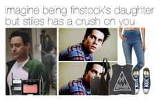 """""""imagine being finstock's daughter but stiles has a crush on you"""" by mikkielaine ❤ liked on Polyvore featuring Wrangler, Converse, The Row, H&M, NARS Cosmetics and Lancôme"""