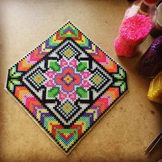"""10""""x10"""" Perler bead wall design by capriciousarts"""