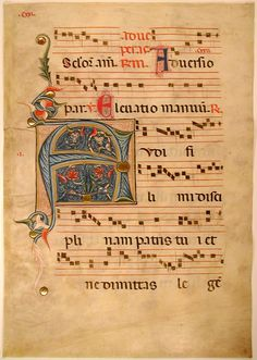 Remains of a Medieval Antiphonal - Folio 8 Verso