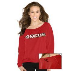 Touch by Alyssa Milano San Francisco 49ers Ladies Draft Choice Sweatshirt - Scarlet