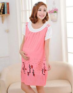 Radiation-free Dress Colour: Light pink/winter trees print