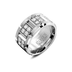 Crown Ring Carlex Diamond Link Men's Wedding Band ($7,780) ❤ liked on Polyvore featuring men's fashion, men's jewelry, men's rings, mens diamond wedding rings, mens diamond rings, mens rings, mens watches jewelry and mens wedding rings