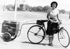 Louise Sutherland, bicycle traveller.