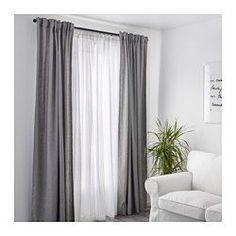 IKEA - MATILDA, Voilage, 1 paire, Les rideaux extra fins laissent passer la lumière du jour tout en préservant votre intimité. À utiliser conjointement avec d'autres rideaux pour habiller une fenêtre.Les passants permettent de suspendre les rideaux directement sur une tringle.