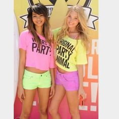 "VS ""Original Party Animal"" Crop VS Pink ""Original Party Animal"" crop. Neon yellow and black writing. Only worn twice and in great condition. PINK Victoria's Secret Tops Crop Tops"