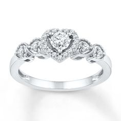 Diamond Promise Ring 1/5 ct tw Round-cut Sterling Silver $229.00 from Jared