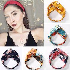 Women Flora Printed Headband Rope Elastic Hair Bands  Price: 7.95 & FREE Shipping  #hashtag4 Hair Turban, Turban Headbands, Floral Headbands, Elastic Headbands, Knitted Headband, Turbans, Headbands For Women, Flora Print, Headband Pattern