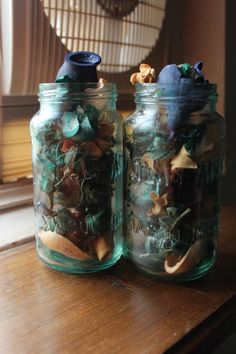 Tinted Jars with Mod Podge and Food Colouring