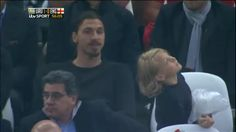 Zlatan Ibrahimavic was quoted as saying he wasn't interest in or going to watch the World cup once his side Sweden failed to qualify... And then the camera finds him in the stadium watching a match!