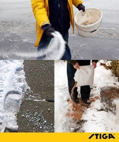 Strooi voorzichtig met zout om de oprit en tuinpaden ijsvrij te maken om schade aan struiken en planten te vermijden. Gebruik eens zand of zaagsel in de plaats.