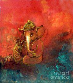 Pensive Ganesha- Asha Sudhakar Shenoy