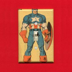 captain america light switch cover!