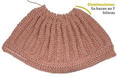 boina tejiendoperu.com Knit Crochet, Crochet Hats, Knitting Stitches, Baby Booties, Beanie, Fashion, Moon Art, Crochet Hearts, Baby Dresses