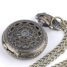 81stgeneration Women's Brass Vintage Style Pocket Watch Chain Pendant Necklace, 78 cm