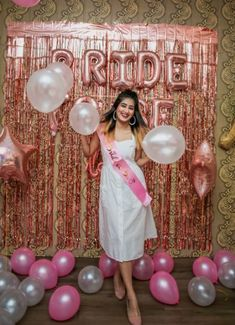 Bride To Be Decorations, Bachelorette Party Decorations, Indian Wedding Decorations, Bridal Shower Decorations, Bachelorette Photo Booth, Bridal Shower Photography, Indian Wedding Photography Poses, Bridal Shower Photos, Bridal Shower Balloons