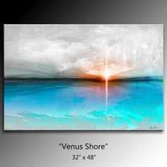 48 x 32 Abstract canvas wall art giclee by theAmazingArtStore