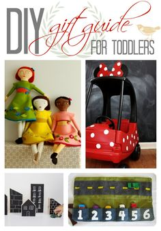 I wish I had had this when my nieces and nephews were younger!  Handmade Holidays: DIY Toddler Gift Guide