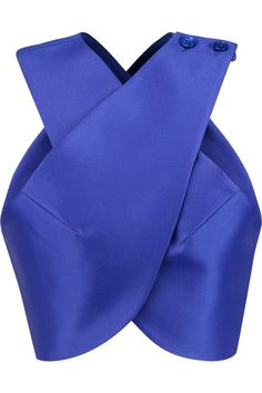 Shop on-sale Carven Satin-twill wrap top. Browse other discount designer Tops & more on The Most Fashionable Fashion Outlet, THE OUTNET.COM