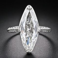 Cartier 3.98 Carat Marquise Diamond Ring