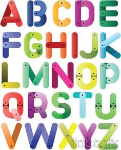 Cartoon 26 letters of the alphabet vector