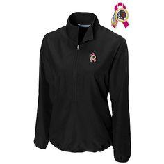 Women's Cutter & Buck Washington Redskins Breast Cancer Awareness WeatherTec™ Post Game Half Zip Jacket