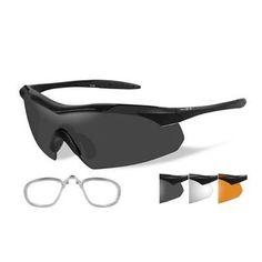 c6b8a208ac Wiley X Vapor Sunglasses - Smoke Grey-Clear-Rust Lens - Matte Black Frame